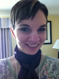 Trying out my new scarf on Saturday!