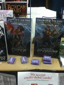 Found these in the dealer's room -- Thunder on the Battlefield: Sword & Sorcery