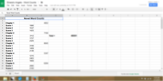 spreadsheet novel -edit